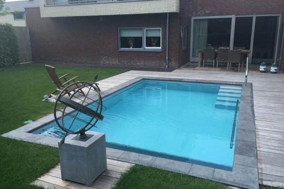 Elegant kunststof zwembaden with zwembad kunstof bak for Ondervloer intex zwembad
